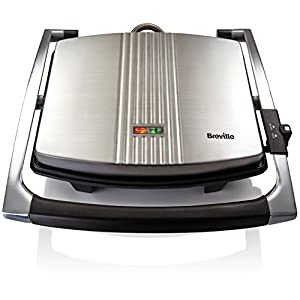 Breville Sandwich/Panini Press and Toastie Maker, 4-Slice, Stainless Steel [VST026]