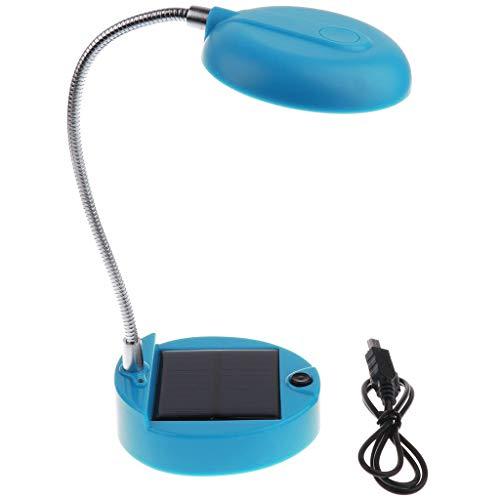 Domowin Tafellamp op zonne-energie, USB-oplaadbaar, draagbare flexibele zwanenhals, 8 leds, mini-solar bureaulamp, voor binnen en buiten, leeslamp