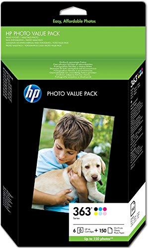 HP 363 Photo Value  Druckerpatronen und Fotopapier 10 x 15 cm/150 Blatt, Q7966EE