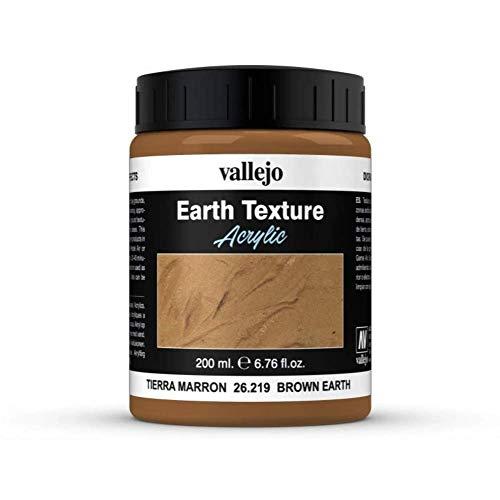 Vallejo - Peinture texture pierre - 200 ml - Marron Terre