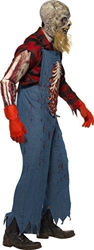 SMIFFYS - Costume Halloween Carnevale Contadino Montanaro Zombie - horror Uomo