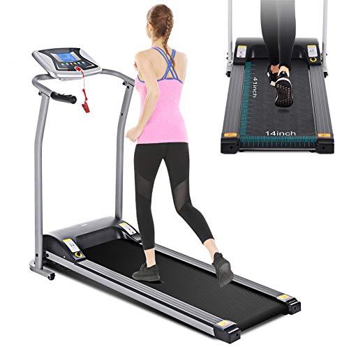 Mauccau Folding Treadmill Electric Motorized Running Machine Portable Treadmill for Home...