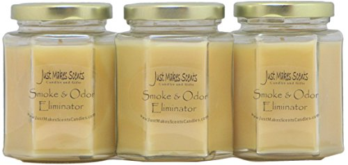 3 Pack - Smoke & Odor Eliminator Blended Soy Candle |...