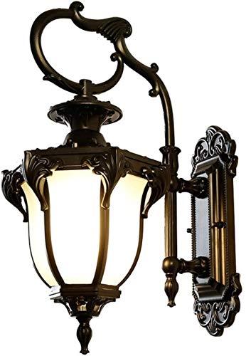 Lampe Murale Mur de lumière Lumineuse Rétro Chambre Lampe de Chevet Lampe Salon Aisle Balcon Cour Lampe Murale étanche Style Chinois Villa 24 * 34 * 52.5cm