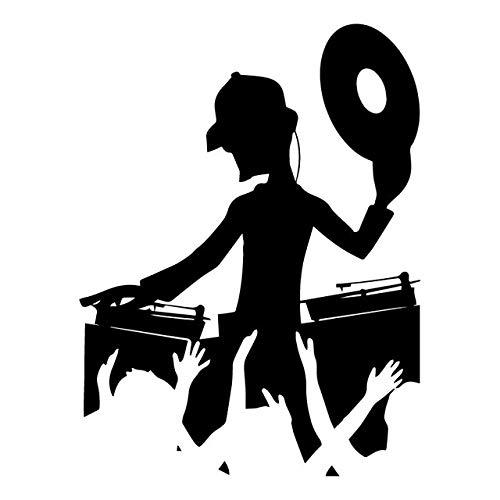 ACEACE 13.5CM * 17.9cm DJ Night Club-Musik-Tanz-Auto-Aufkleber Fenster-Trunk Dekoration Aufkleber (Color Name : Black)