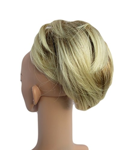 342 VANESSA GREY Toutes les couleurs disponibles, Petite Pince Extension De Cheveux Agréable À Porter Pour Queue De Cheval, Blond Miel Doré Avec MÈches Et Pointes Platines