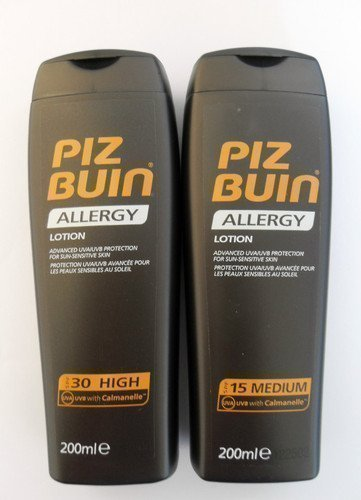 Piz Buin Allergy Duo Sun Lotion Spf?30 And Spf15? - 200Ml Each ?Prevent Prickly Heat
