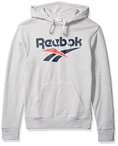 Reebok Herren Classic Vector Hoodie Kapuzenpullover, Hellgrau (Light Grey Heather), X-Small
