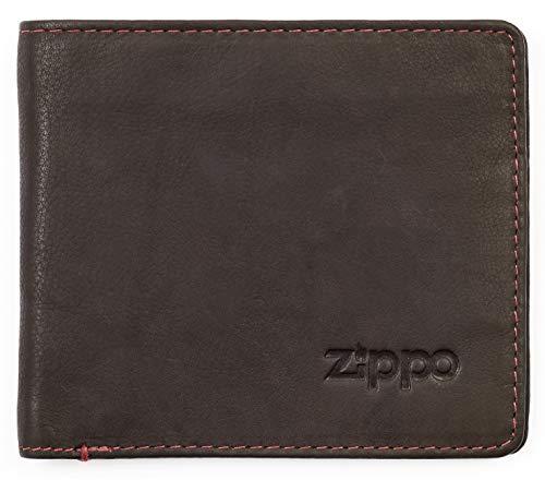 Zippo Portafogli e Carte di credito con Moneta, in pelle Mocha (Marrone) - Originale