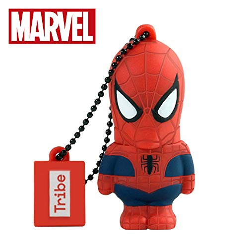 Chiavetta USB 32 GB Spiderman - Memoria Flash Drive 2.0 Originale Marvel, Tribe FD016705