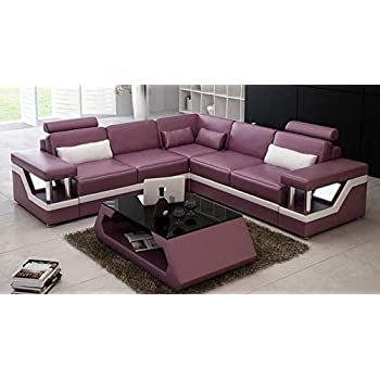 Quality Assure Furniture Contemporary Style High Class Look Fully Customizable Leatherette Sofa (Standard Size, Pink)