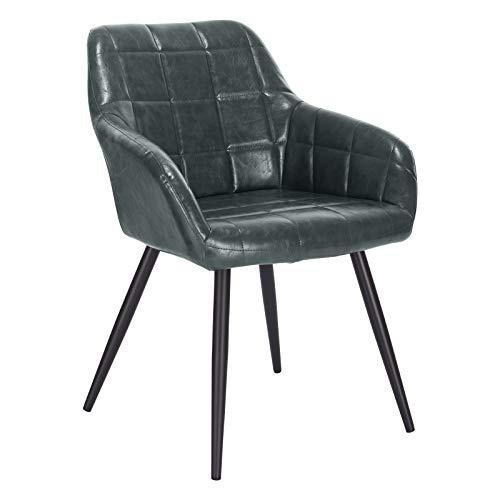 Rosa MIFI Set di 2 sedie da Pranzo Sedie da Pranzo retr/ò Vintage Sedie da Trucco Cuscini Morbidi in Velluto Sedile e Schienale con Gambe in Metallo Sedie da Cucina per Sala da Pranzo e Soggiorno