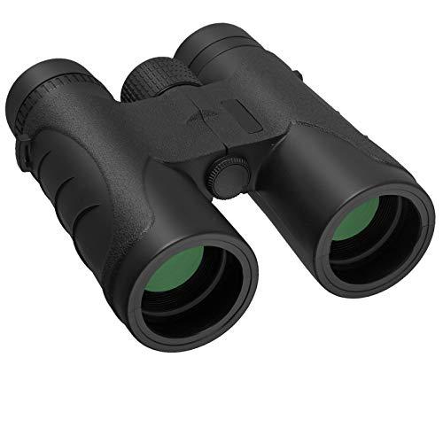 Binocolo Anbte 10x42 HD Portabile Telescopio BaK4 Prisma FMC Lenti Binocolo Compatto con Sacchetto di Trasporto e Adattatore per Smartphone Binocolo Professionale per Birdwatching Concerti Outdoor
