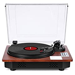 ✅{BLUETOOTH INPUT & OUTPUT } support Bluetooth receiver & transmission to connect your phone and speaker wirelessly. Enjoy genuine vinyl sound with your family & friends. Take some meditation to purify your soul when you listen to the music. ✅{USB DI...