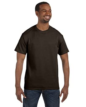 Hanes Men s 6.1 oz Tagless T-Shirt Dark Chocolate L