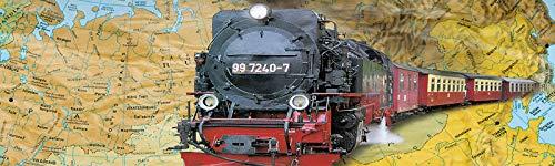 Tren Electrico Orient Express METALICO con LUZ Puente Estación y Accesorios Replica a Escala 440