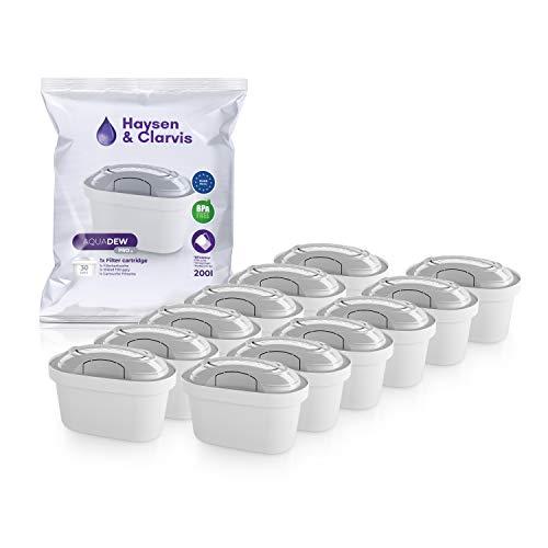 Haysen & Clarvis Wasserfilter Kartuschen Kompatibel mit Brita Maxtra, PearlCo, BWT, Dafi (12er Pack)