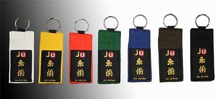 Schlüsselanhänger Gürtel Judo Blau Sport Freizeit