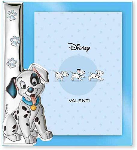 Disney Baby - La Carica dei 101 - Cornice per Foto in Argento da Tavolo o Comodino con Dettaglio 3D Cane Dalmata Lucky per la Cameretta del Bambino perfetta come Idea Regalo Battesimo o Compleanno