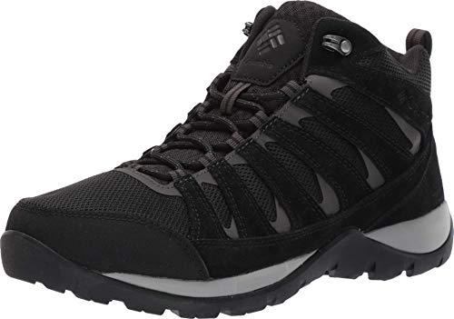 Columbia Redmond V2 Mid Waterproof, Chaussure de randonnée Homme, Noir Black Dark GRE, 49 EU Weit