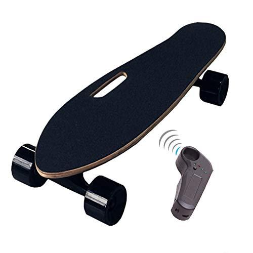 XLY Elektro skateboard, compleet cruiser-skateboard met 18 km/u maximumsnelheid en 7 lagen Canada Maple deck, draadloos op afstand bestuurd gemotoriseerd skateboard voor stadse pendelaars