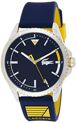 Lacoste Reloj Analógico para Hombre de Cuarzo con Correa en Caucho 2011027