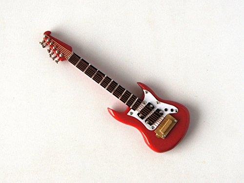 Rojo Washburn Guitarra eléctrica en miniatura 1/12escala musical instrumento en caso de...