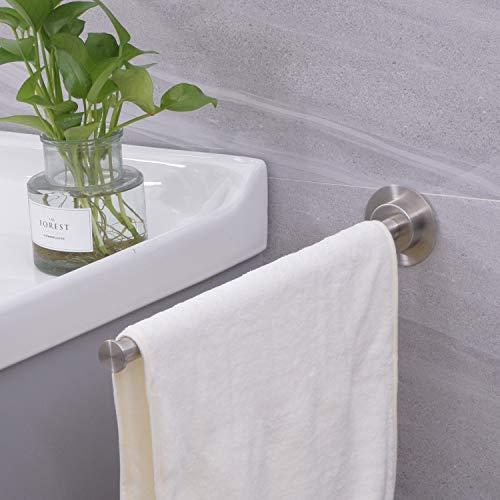 Toallero autoadhesivo, de 38 cm, para toallas de baño, soporte de pared, sin taladro, fácil de instalar, acero inoxidable