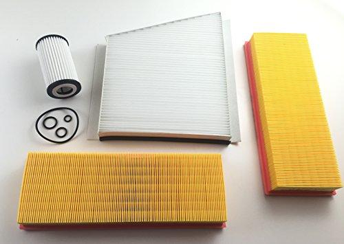 Lot de 2 filtres à air, filtres à huile, filtre de pollen W211, S211, E 230, E 240, E 280, E 320, E 350, E 350 CGI, E 500, E 55 AMG - essence