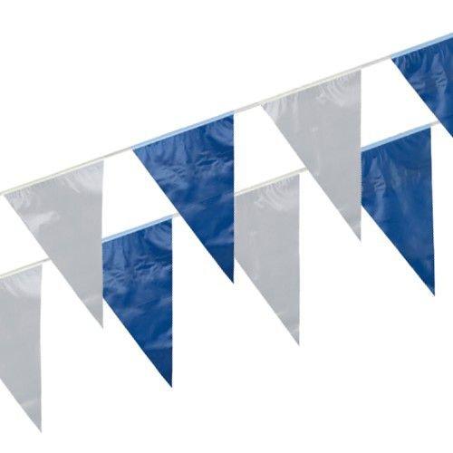 PAPSTAR Wimpelkette, Folie 10 m blau/weiss wetterfest