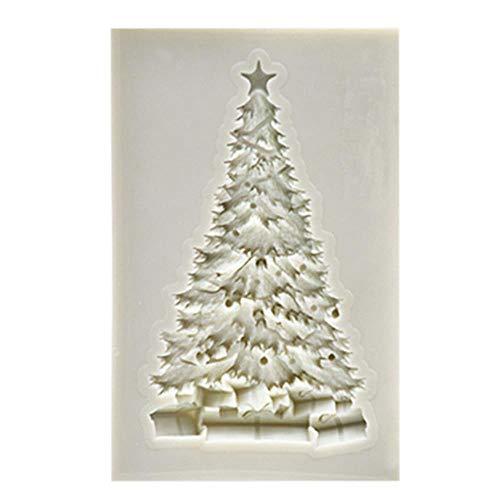 Weihnachtsbaumform Silikonform Fondantform Kuchen Dekorationswerkzeuge Schokoladenform Gebäck Werkzeuge Backgeschirr Küche Backwerkzeug, grau