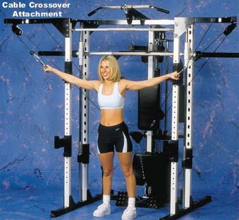 Caribou III Home Gym & Smith Machine - Dip, Preacher Curl, Pec Deck and Cable...