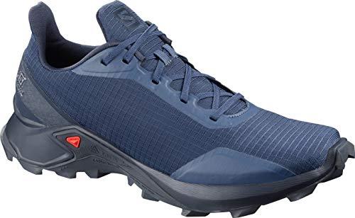 Salomon Men's ALPHACROSS Trail Running Shoe, Sargasso Sea/Navy Blazer/India Ink, 10