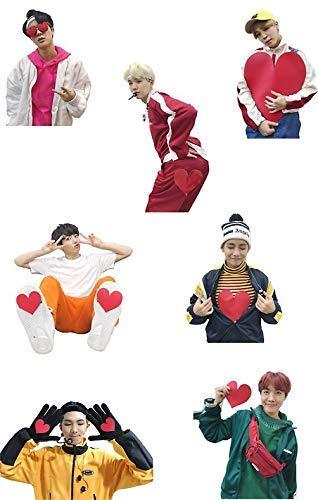 "MAGNET BTS gogo Hearts from MBC NYE Magnetic Car Sticker Decal Refrigerator Metal Magnet Vinyl 5"""