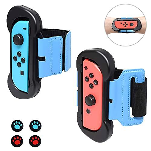 2 Pack Just Dance 2021/2020/2019 Tanzband, Armband, Wristband für Joycon Controller, Verstellbare Elastische Manschette für Nintendo Switch Joy-Cons für Ring Fit Adventure & Zumba Burn it Up