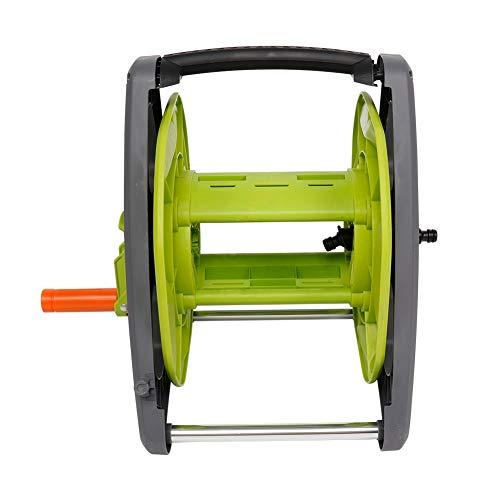 Lantro JS Soporte para Manguera de jardín de 45 m, Soporte para Manguera de Agua para Carrete de Manguera de jardín, Soporte para tubería de riego para Lavado de Autos, Soporte para Manguera de Agua