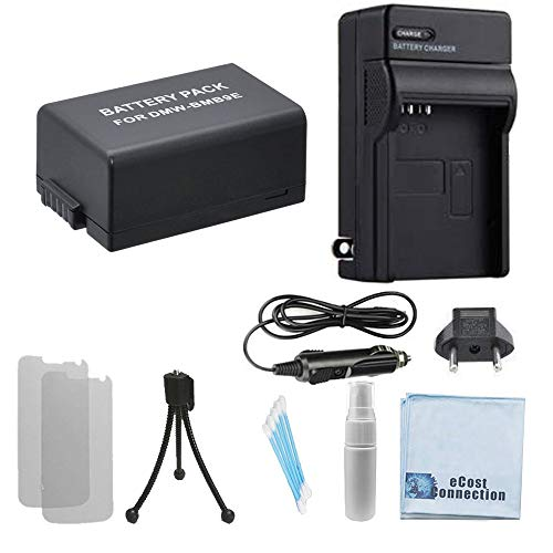 DMW-BMB9 High-Capacity Battery + Car/Home Charger for Panasonic DMC-FZ60, DMC-FZ62, DMC-FZ70, DMC-FZ72 & More. Camcorder + Complete Starter Kit