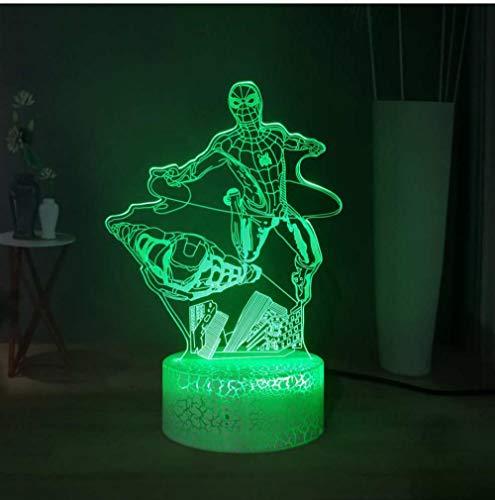 QAZQAZ Cadeau pour enfant Dc Comic 3D lampe de chevet films se battre ensemble Usb Led veilleuse
