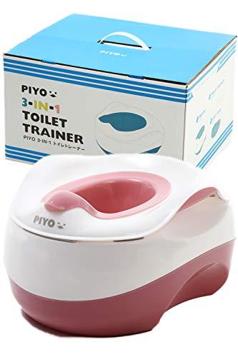 ピヨ(PIYO) おまる 3way 補助便座 踏み台 男の子 女の子 子供 子ども ステップ台 幼児 こども トイレ おしゃれ 人気 かわいい (コーラル・ヒ?ンク)