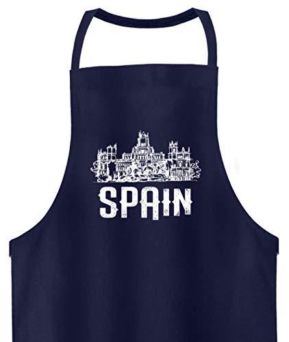 Schuhboutique Doris Finke UG (haftungsbeschränkt) Spanien Madrid Palast Schloss - Hochwertige Grillschürze -Einheitsgröße-Dunkel-Blau