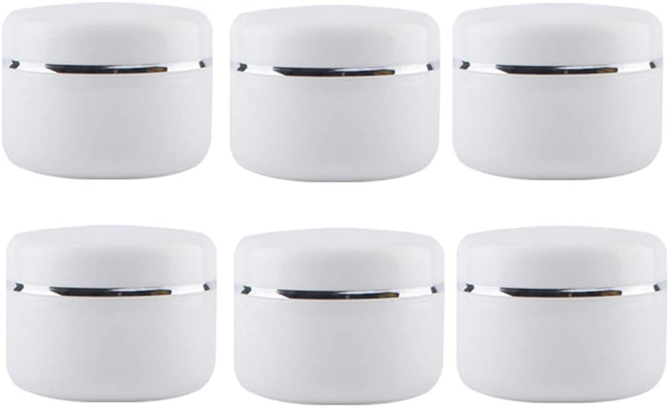 6Pcs We Regular discount OFFer at cheap prices 100ML 3.3OZ White Plastic Cream Make-up Cosmetic Jars