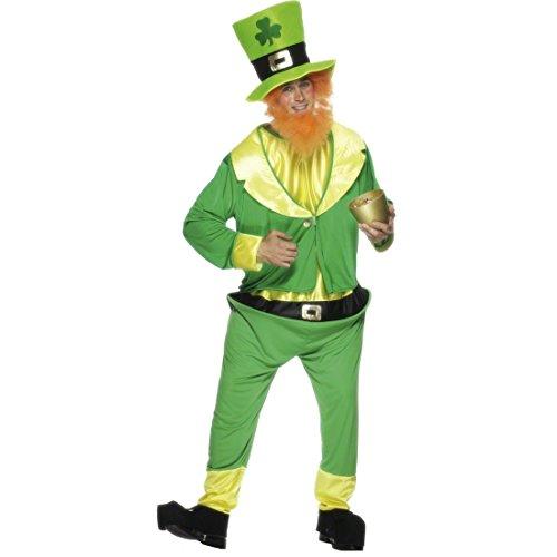 NET TOYS Costume de Lutin Irlandais. Taille M/L - Costume de GNOME - Déguisement de Lutin Magicien