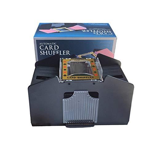 TX GIRL Automatische Spielkarte Shuffler for 1-4 Decks Karte Shuffler Batteriebetriebene Plastic Poker Shuffler Casino Equipment (Size : 1-4 Decks)