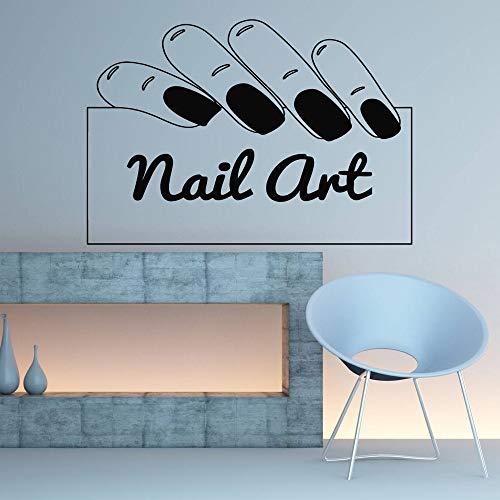 Nail Salon Bar Wandtattoos, Nail Art Aufkleber, Nail Bar Studio Design Kunst, Pediküre Beauty Salon Wanddekoration A7 82x57cm