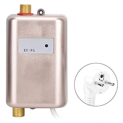 Caredy Elektro-Durchlauferhitzer, 220 V, 3800 W, heißer, kalter Mini-Durchlauferhitzer mit Kontrollleuchte, Durchlauferhitzer für das Badezimmer(EU Stecker 220V 3800W)