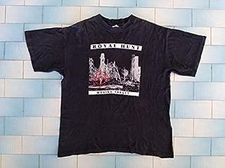 1996 ROYAL HUNT Vintage Tour T-shirt_ Moving Target_ Made in Usa_ Size xl