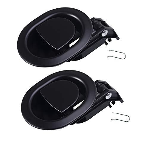 Kuanyu 2 stabile Liegestuhlgriffe für Sofa/Sessel, oval, schwarz, Ganzmetall, passend für Ashley und andere Hersteller, Griff für Sofa/Liegestuhl, Griffgröße 7,6 x 8,9 cm
