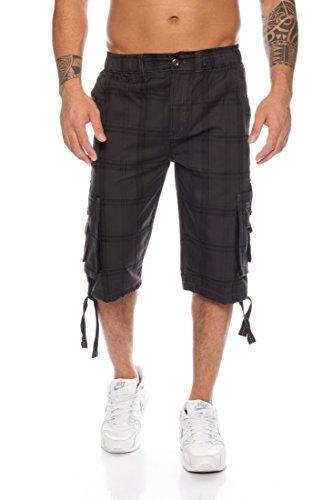 Kendindza Hombres Pantalones Cortos Bermuda Cargo Leisure Shorts M - 4XL (Gris (302), M)