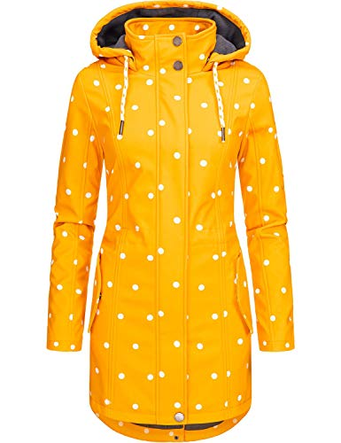 Peak Time Damen Softshell Mantel L60013 Gelb Dots Gr. M