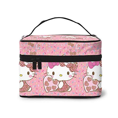 Kosmetiktasche mit pinkem Leopardenmuster, tragbare Kosmetiktasche für Frauen und Mädchen